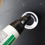 7. Use a black marker to color the inside of the ring to minimize reflections.