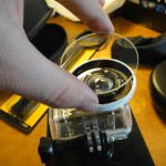 11. Clean the UV-lens thoroughly and glue it on the ring. Waterproof again!